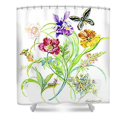 Welcome Spring II Shower Curtain by Kimberly McSparran