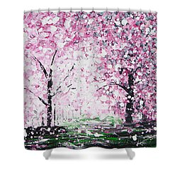 Welcome Spring Shower Curtain by Kume Bryant