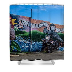 Welcome To Rogue River Oregon Shower Curtain by Mick Anderson