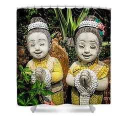 Welcome To Thailand Shower Curtain by Adrian Evans