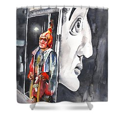 Welcome To The Czech Republic 01 Shower Curtain by Miki De Goodaboom