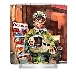 Welcome To The Czech Republic 04 Shower Curtain by Miki De Goodaboom