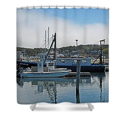 Wellfleet Shellfish Dept Shower Curtain by Barbara McDevitt