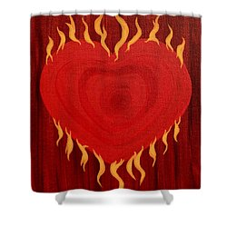 Were Not Our Hearts Burning Within Us Shower Curtain by Michele Myers