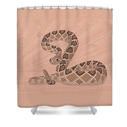 Western Diamondback Rattlesnake Shower Curtain by Nathan Marcy