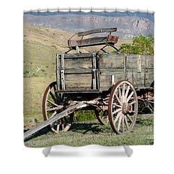 Western Wagon Shower Curtain by Sabrina L Ryan