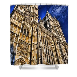 Westminster Abbey West Front Shower Curtain by Stephen Stookey