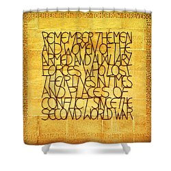 Westminster Military Memorial Shower Curtain by Stephen Stookey