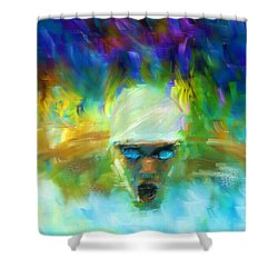 Wet And Wild Shower Curtain by Lourry Legarde
