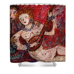 What Are You Looking At-12 Shower Curtain by Natalie Holland