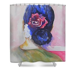 What Lies Ahead Series.. Watching Time Go By Shower Curtain by Chrisann Ellis
