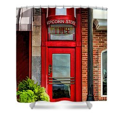 Wheaton Little Popcorn Shop Panorama Shower Curtain by Christopher Arndt