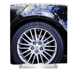 Wheel Shower Curtain by Sarah Loft