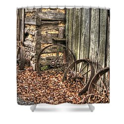 Wheels Of Time Two Shower Curtain by Benanne Stiens