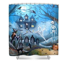 When October Comes Shower Curtain by Shana Rowe Jackson