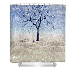 When The Last Leaf Falls... Shower Curtain by John Edwards
