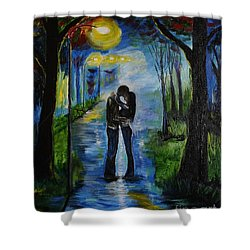 When We Fell In Love Shower Curtain by Leslie Allen