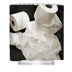 Where Is My Spare Roll Bw V1 Shower Curtain by Andee Design