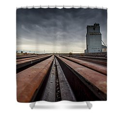 Where It Goes-2 Shower Curtain by Fran Riley