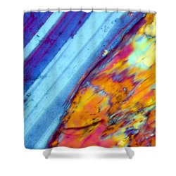 Where The Lava Meets The Ocean Shower Curtain by Tom Phillips