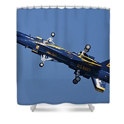Which Way Is Up Shower Curtain by Adam Romanowicz
