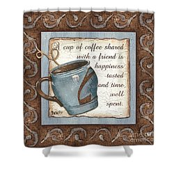 Whimsical Coffee 2 Shower Curtain by Debbie DeWitt