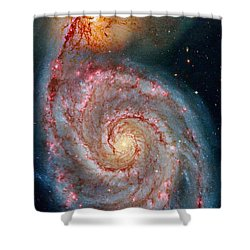 Whirlpool Galaxy In Dust Shower Curtain by Benjamin Yeager