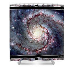 Whirlpool Galaxy Self Framed Shower Curtain by Rose Santuci-Sofranko