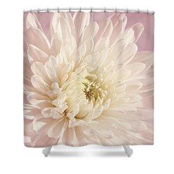 Whispering White Floral Shower Curtain by Kim Hojnacki