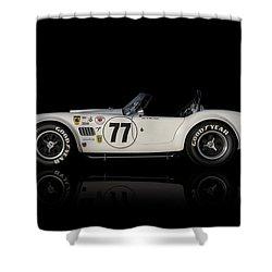 White Cobra Shower Curtain by Douglas Pittman