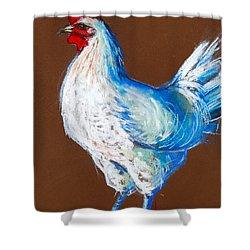 White Hen Shower Curtain by Mona Edulesco