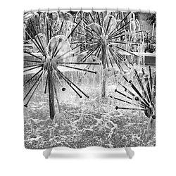White Noise Generator Shower Curtain by Trever Miller