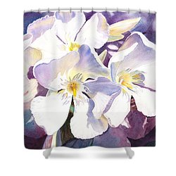 White Oleander Shower Curtain by Irina Sztukowski
