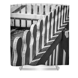 White Picket Fence Portsmouth Shower Curtain by Edward Fielding