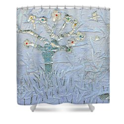 White World Shower Curtain by Augusta Stylianou