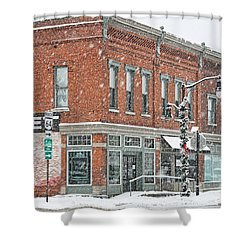 Whitehouse Ohio In Snow 7032 Shower Curtain by Jack Schultz