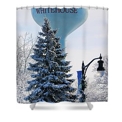 Whitehouse Water Tower  7361 Shower Curtain by Jack Schultz