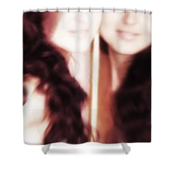 Who Is True Shower Curtain by Jenny Rainbow