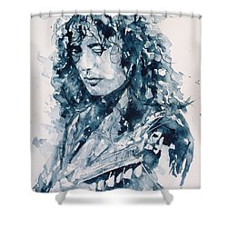 Whole Lotta Love Jimmy Page Shower Curtain by Paul Lovering