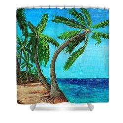 Wild Beach Shower Curtain by Anastasiya Malakhova