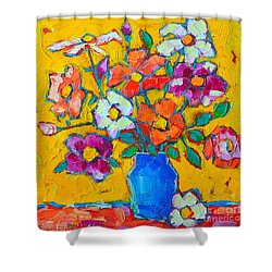 Wild Colorful Roses Shower Curtain by Ana Maria Edulescu