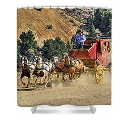 Wild West Ride 2 Shower Curtain by Donna Kennedy