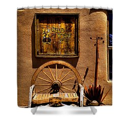 Wild West T-shirts - Old Town New Mexico Shower Curtain by David Patterson