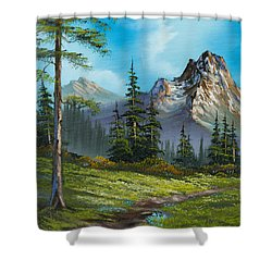 Wilderness Trail Shower Curtain by C Steele