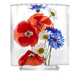 Wildflower Arrangement Shower Curtain by Elena Elisseeva
