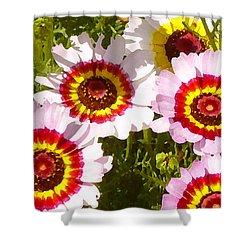Wildflowerd Wide 1 Shower Curtain by Amy Vangsgard