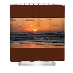 Wildwood Beach Here Comes The Sun Shower Curtain by David Dehner