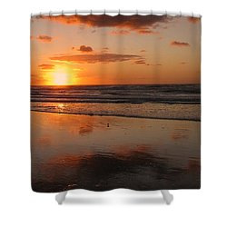 Wildwood Beach Sunrise Shower Curtain by David Dehner