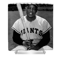 Willie Mays Shower Curtain by Gianfranco Weiss