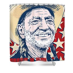 Willie Nelson Pop Art Shower Curtain by Jim Zahniser